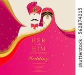 indian wedding invitation card... | Shutterstock .eps vector #562874215