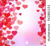 valentines day background with... | Shutterstock . vector #562881151