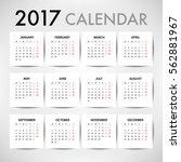 calendar for 2017 for... | Shutterstock .eps vector #562881967