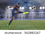 african american soccer player... | Shutterstock . vector #562882267
