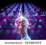virtual human 3dillustration on ... | Shutterstock . vector #562883455