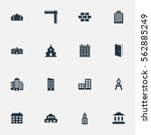 set of 16 simple structure... | Shutterstock .eps vector #562885249
