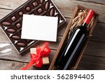 valentines day greeting card.... | Shutterstock . vector #562894405