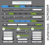 web site design menu navigation ... | Shutterstock .eps vector #562903849