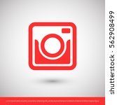 retro camera icon. one of set... | Shutterstock .eps vector #562908499