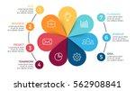 vector circle arrows... | Shutterstock .eps vector #562908841