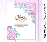romantic invitation. wedding ... | Shutterstock .eps vector #562909609