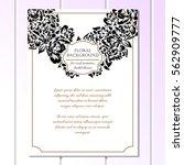 romantic invitation. wedding ...   Shutterstock .eps vector #562909777
