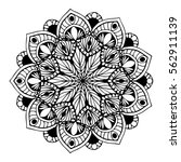 mandalas for coloring book.... | Shutterstock .eps vector #562911139