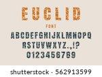 decorative alphabet vector font.... | Shutterstock .eps vector #562913599