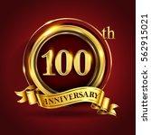 celebrating 100th golden... | Shutterstock .eps vector #562915021