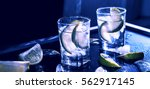 Closeup Vodka In A Glass With...