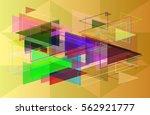 triangles vector idea | Shutterstock .eps vector #562921777