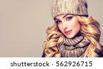 trendy warm winter   beautiful  ... | Shutterstock . vector #562926715