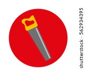 handsaw tool isolated icon...