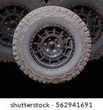 car wheels on a white... | Shutterstock . vector #562941691
