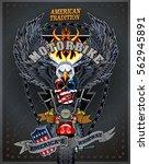 vintage motorcycle label | Shutterstock .eps vector #562945891