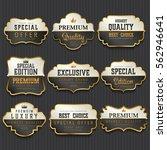 luxury premium golden labels... | Shutterstock .eps vector #562946641