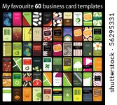 60 colorful vertical business... | Shutterstock .eps vector #56295331