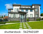 new residential house with...