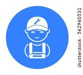 mechanic black icon.... | Shutterstock .eps vector #562960531