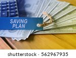 finance conceptual image with... | Shutterstock . vector #562967935