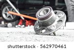 car suspension and car bearing... | Shutterstock . vector #562970461