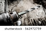 electric drilling hammer drill... | Shutterstock . vector #562972759