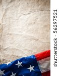 flapping flag usa with wave | Shutterstock . vector #56297521