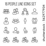 set of people icons in modern... | Shutterstock .eps vector #562977934