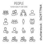 set of people icons in modern... | Shutterstock .eps vector #562977964