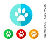 set of colored footprint icons. ... | Shutterstock .eps vector #562979935