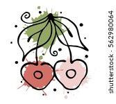 raster fruits illustration.... | Shutterstock . vector #562980064