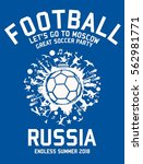 russia soccer player graphic... | Shutterstock .eps vector #562981771