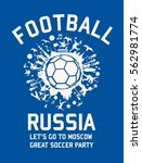 russia soccer player graphic... | Shutterstock .eps vector #562981774