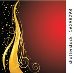 elegant dark  background  vector | Shutterstock .eps vector #56298298