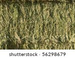 side view of square bales of... | Shutterstock . vector #56298679
