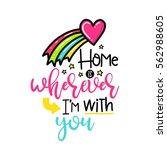 vector hand drawn lettering... | Shutterstock .eps vector #562988605