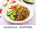 diet menu. healthy lifestyle.... | Shutterstock . vector #562994881