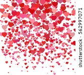 valentines day background with... | Shutterstock .eps vector #562997071