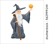wizard. old man with magic... | Shutterstock .eps vector #562999144