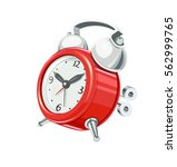 vintage alarm clock with arrow... | Shutterstock .eps vector #562999765