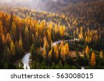 great view of winding road.... | Shutterstock . vector #563008015
