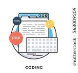 coding vector icon | Shutterstock .eps vector #563009209