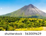 Typical dormant volcano  arenal ...