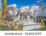 gas booster compressor... | Shutterstock . vector #563021059