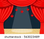 picture cartoon theater with...   Shutterstock .eps vector #563023489