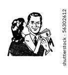increased earnings   couple... | Shutterstock .eps vector #56302612