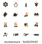 agriculture and farming icon... | Shutterstock .eps vector #563029435