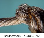 bare electric wire  large ... | Shutterstock . vector #563030149
